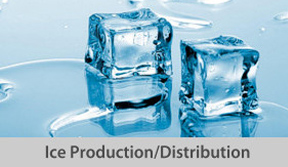 Ice production distribution button