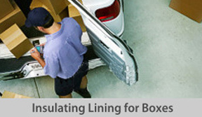 Insulating lining for boxes button
