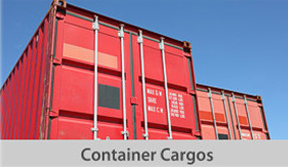 container transport cargos button