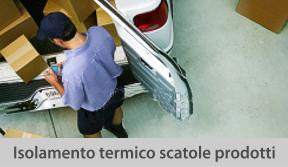 isolamento termico scatole prodotti
