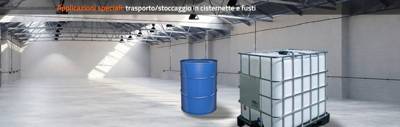 trasporto cisternette fusti isotermici
