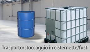 trasporto stoccaggio cisternette fusti